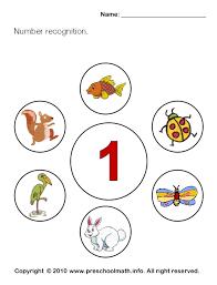 free preschool number recognition math worksheets