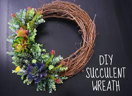 succulent wreath diy succulent wreath home decor hobby lobby decoration