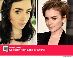 extensions for pixie cut hair lily collins ditches her pixie cut gets extensions toofab com