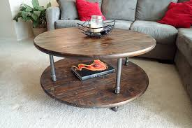 Pipe Coffee Table by Round Rustic Industrial Pipe Coffee Table