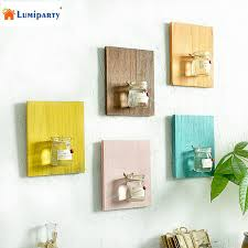 wooden wall hanging lumiparty creative home wall decoration wooden wall hanging plant