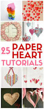 25 easy paper heart projects valentines day weddings paper
