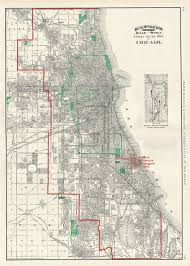chicago map streets guide map of chicago geographicus antique maps
