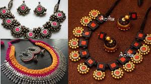 terracotta jewellery design ideas for navaratri jewellery design