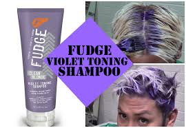 Using The Fudge Clear Blonde Shampoo To Tone My Hair Youtube