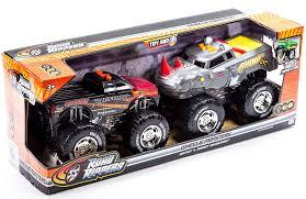 power wheels bigfoot monster truck amazon com road rippers bigfoot u0026 rhino wheelie motorized