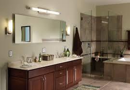 bathroom sconce lighting ideas brown finish maple wood storage van