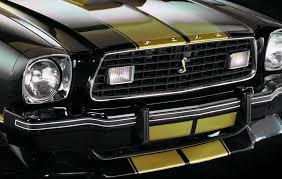 Black Mustang Grille Emblem Black 1977 Ford Mustang Cobra Ii Hatchback Cool Photo