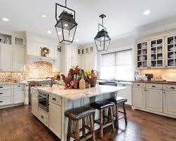 kitchen backsplash brick distressed kitchen cabinets houzz