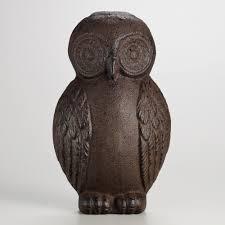 cast iron owl doorstop love her gift