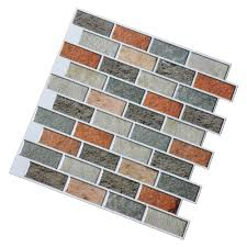 peal and stick kitchen backsplash adhesive wall tile 10 pieces