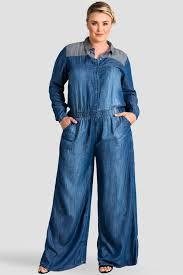 plus size denim jumpsuit standards practices plus size s indigo contrast tencel