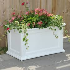 Porch Rail Flower Boxes by Mayne Rectangle Polyethylene Fairfield Patio Planter Hayneedle