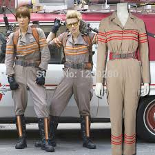 Ghostbuster Halloween Costumes Aliexpress Buy 2016 Ghostbusters 3 Unisex Jumpsuits