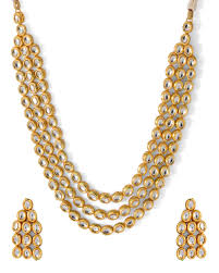 multi layered necklace images Buy beautiful multi layered kundan studded necklace set for jpg