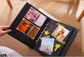 creative photo albums diy manual paste type photo album baby grow memory record