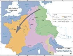 The Map Of Europe by Of The Treaty Of Verdun 843