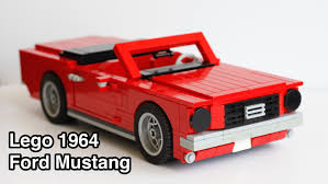 lego 1 18 scale 1964 ford mustang convertible youtube