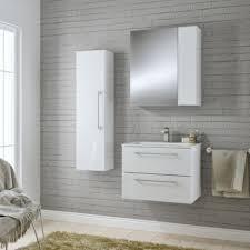 B Q Bathroom Storage Units B Q 217 Cooke Lewis Paolo Gloss White Wall Hung Vanity Unit