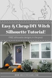 ansley designs diy witch silhouettes