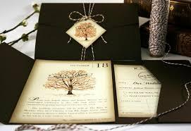 Rustic Vintage Wedding Invitations Book Fall Wedding Invitation Sample Pocketfold Tag Twine Fall