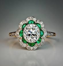 1920 engagement rings new 1920s original art deco diamond emerald