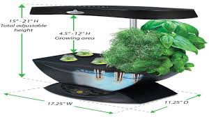 miracle gro aerogarden extra led indoor garden with gourmet herb