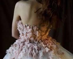 petal covered party dresses michaela schmid shabby chic