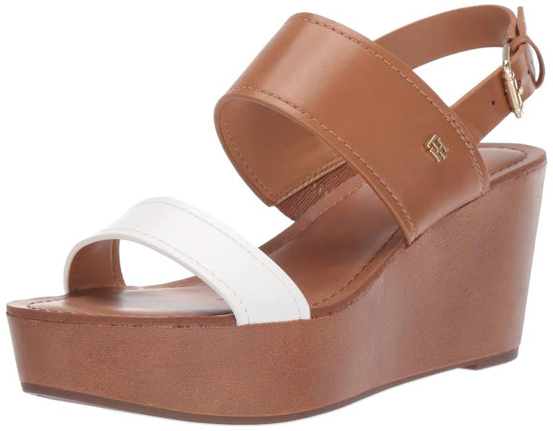 Tommy Hilfiger Wilder Leather Open Toe Casual, Natural,