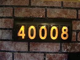 Lighted House Number Sign Exquisite Decoration Lighted Address Numbers Spelndid Lighted
