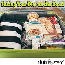 taking nutrisystem my select plan on the road with