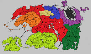 Map Of Skyrim Political Map Of Tamriel 4e 201 Open To Suggestions On Accuracy