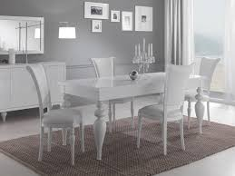 Meuble Salle A Manger Blanc Laque by Indogate Salle Manger Plete Blanc Laque Inspirations Avec Salle A