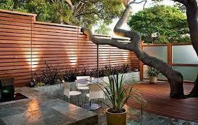 Houzz Backyards Garden Design Garden Design With Cedar Privacy Screen Home Design