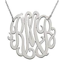 cheap monogram necklace cheap monogram initial necklace silver find monogram initial