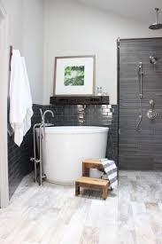 the 25 best shower over bath ideas on pinterest bathrooms design indulgence high gloss subway tile next to textured tile soaker tub mantle over tub