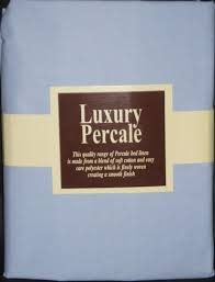 new percale 4ft 3 4 bed blue fitted u0026 flat sheet set amazon co uk