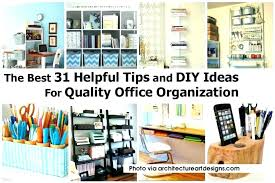 Home Office Desk Organization Ideas Stylish Office Organization Enchanting Office Desk Storage Ideas