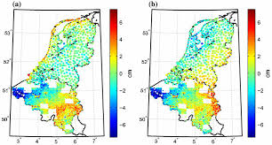 netherlands height map 1 differences between gravimetric and geometric height anomalies at