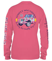 jeep tank top simply southern preppy collection sweet jeep long sleeve t shirt