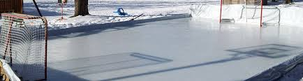 Backyard Rink Kit by Ice Rink Liners Custom Cut Tri Layer Poly Ice Rink Liners