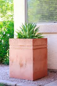 large concrete planter remodelaholic how to make a tall concrete planter