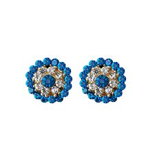 210 best sarees for farewell rs 370 buy online shreya collection alloy multicolour earrings