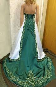 green wedding dresses white and emerald green wedding gown wedding