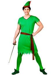 mens deluxe robin hood peter pan medieval fancy dress costume