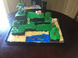 minecraft cake cake devils food with black gel coloring trees
