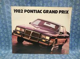 1982 pontiac grand prix original sales brochure inc brougham u0026 lj