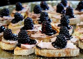 berry canapes pâté blackberry canapés taste with the