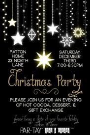 custom glitter christmas party invitations chalkboard ornament