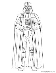 star wars u2013 darth vader 01 coloring page coloring page central